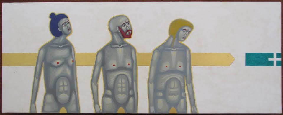 Данило Мовчан. Дорога, 2011. Дошка, левкас, жовткова темпера, золото