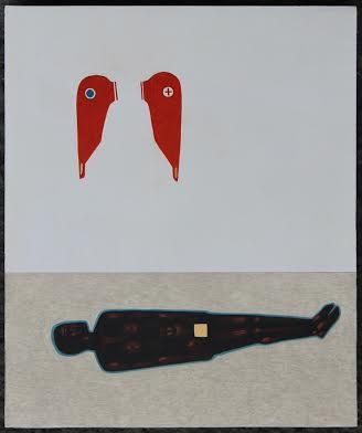Данило Мовчан. Втрачені крила, 2013. Дошка, левкас, жовткова темпера, золото