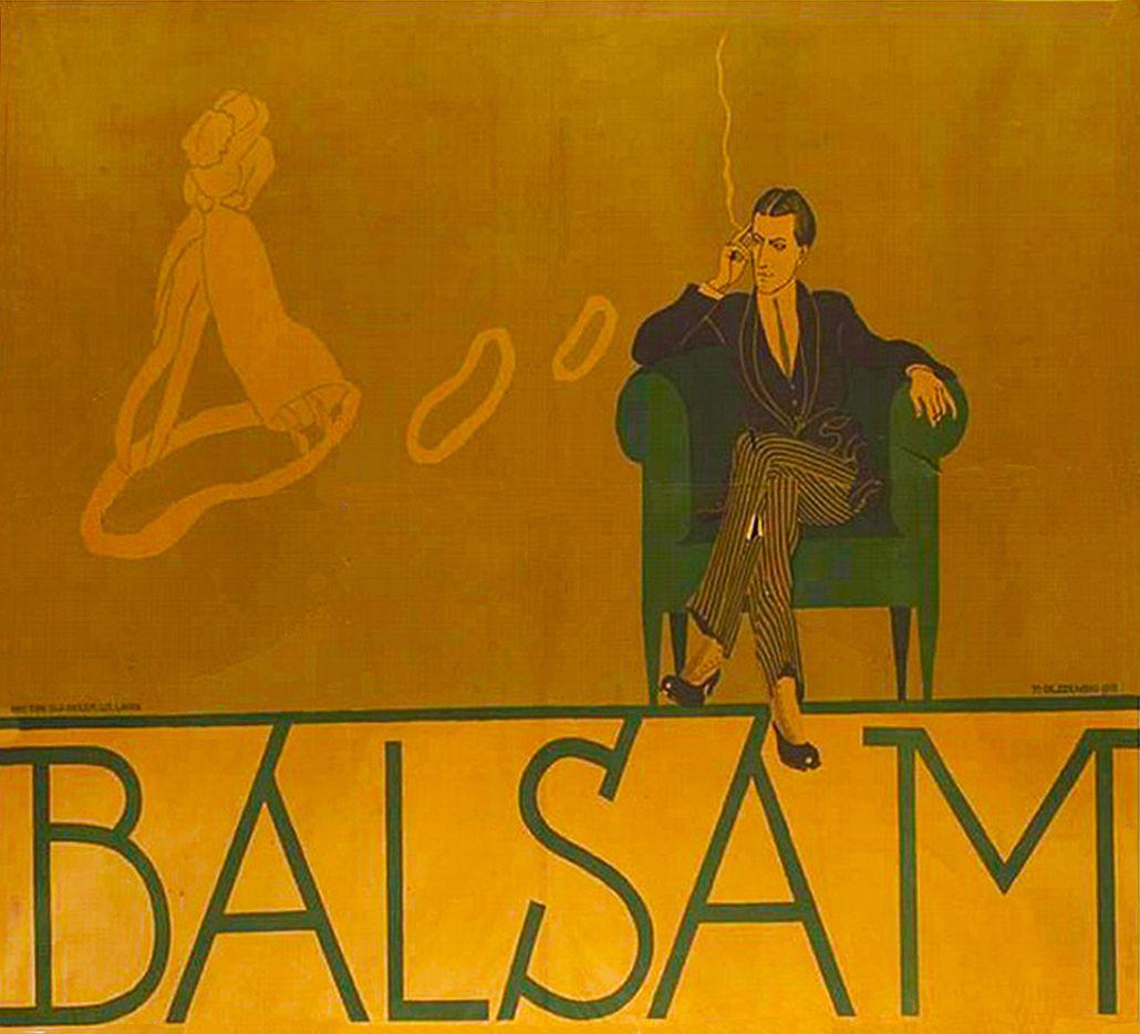 Мар'ян Ольшевський. Плакат Бальзам, 1915; литографія
