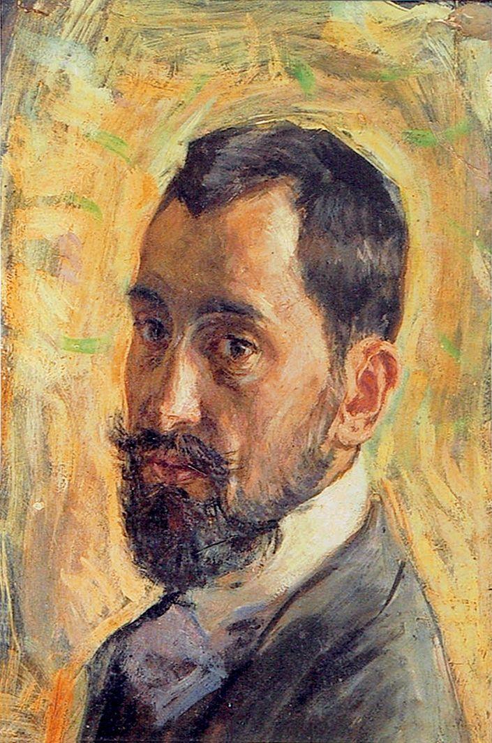 Мар'ян Ольшевський. Портрет брата Станіслава; картон, масло