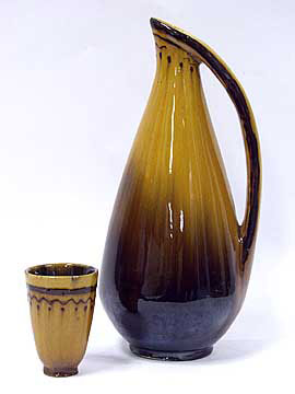 Зіновія Масляк. Прибор для вина (2 предмета), майоліка