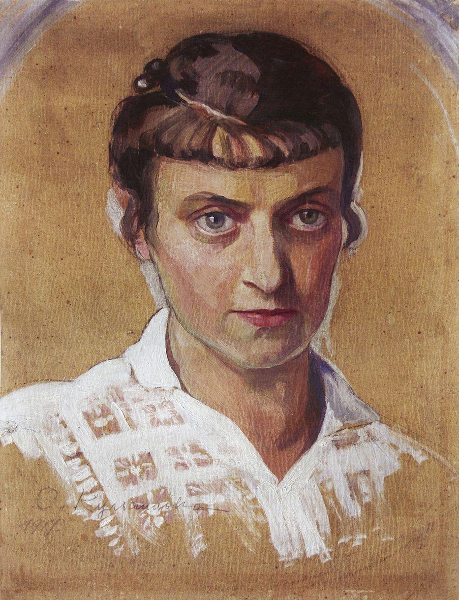 Олена Кульчицька. Автопортрет, 1917
