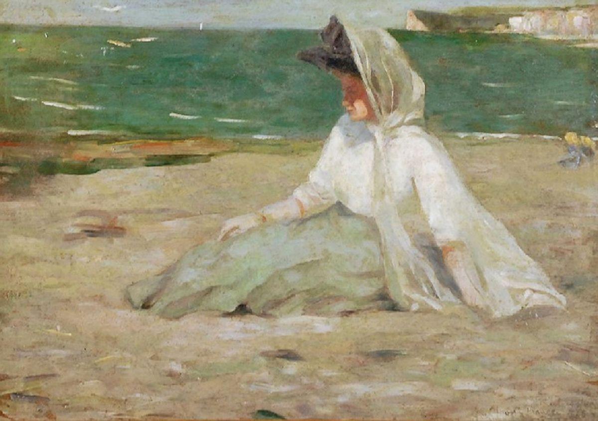 Олена Кульчицька. На пляжі, 1908
