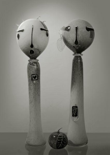 Орест Принада. Декоративна пластика «Ти і Я», 2008. Скло, гутна техніка