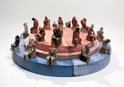 Роман Петрук. Олімп, 1975. Кам'янкова маса, емаль. Висота — 31 см; Хмельницький обласний художній музей