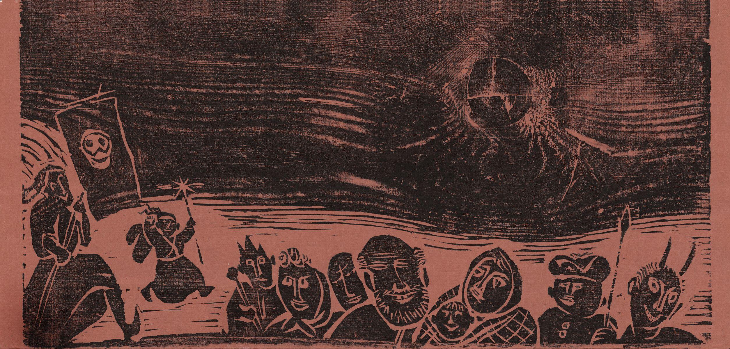 Роман Петрук. Вертеп, 2000; дереворит, 25х50 см