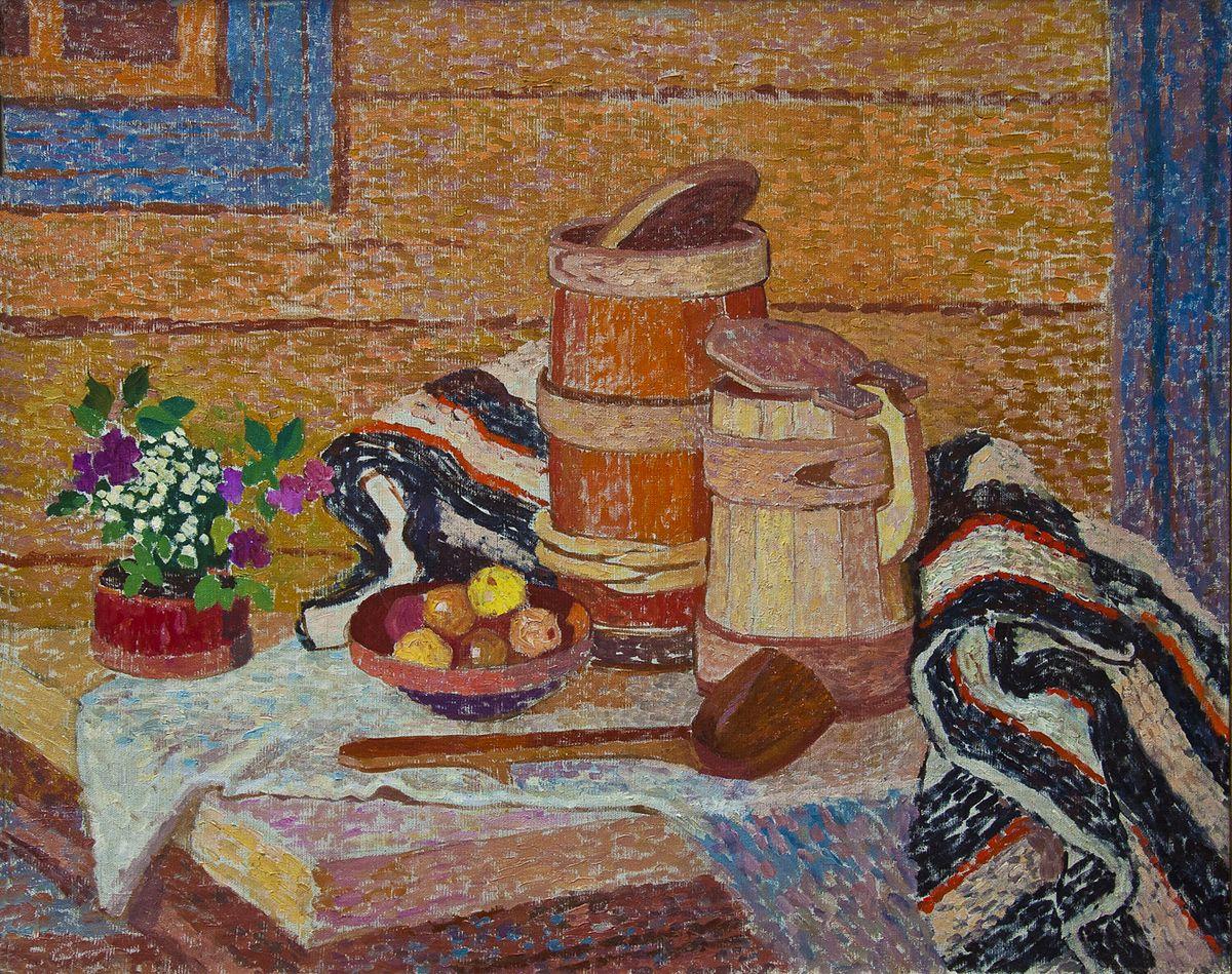 Вітольд Манастирський. Гуцульський натюрморт, 1957