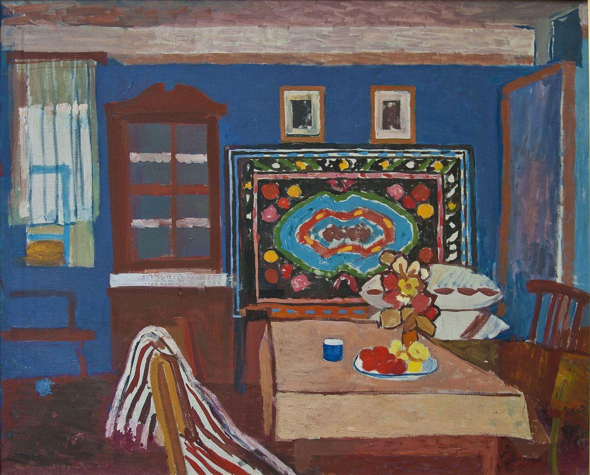Вітольд Манастирський. Синий  інтер'єр, 1960