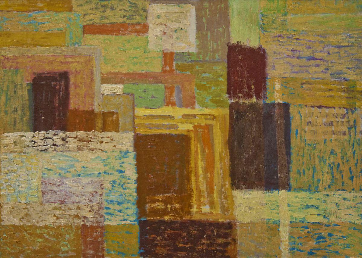Вітольд Манастирський. В майстерні художника, 1957