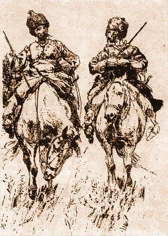 Антін Манастирський. Козаки в степу