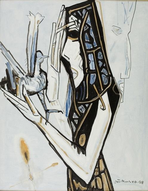 Олег Мінько. Дівчина з птахом, 2008