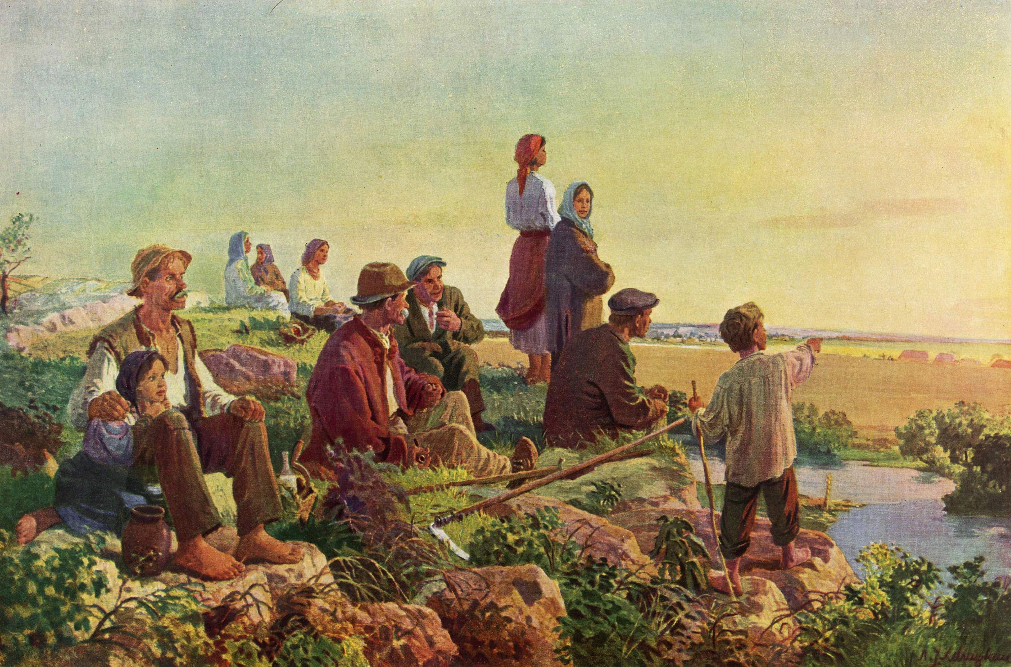 Леопольд Левицький. Дума про возз'єднання, 1954; олія на полотні, НМЛ