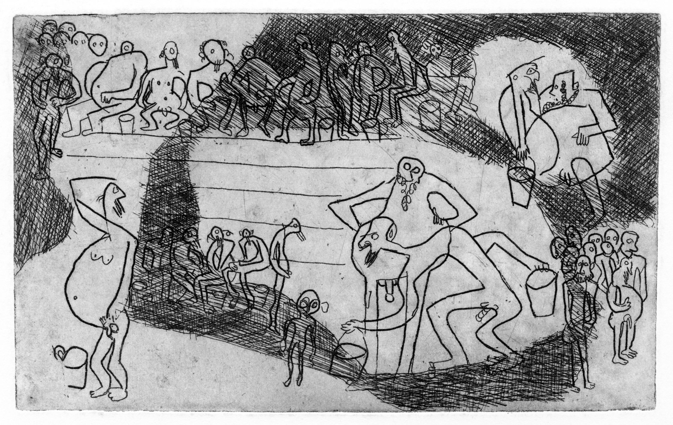 Леопольд Левицький. Міква, 1932; офорт, NMWr