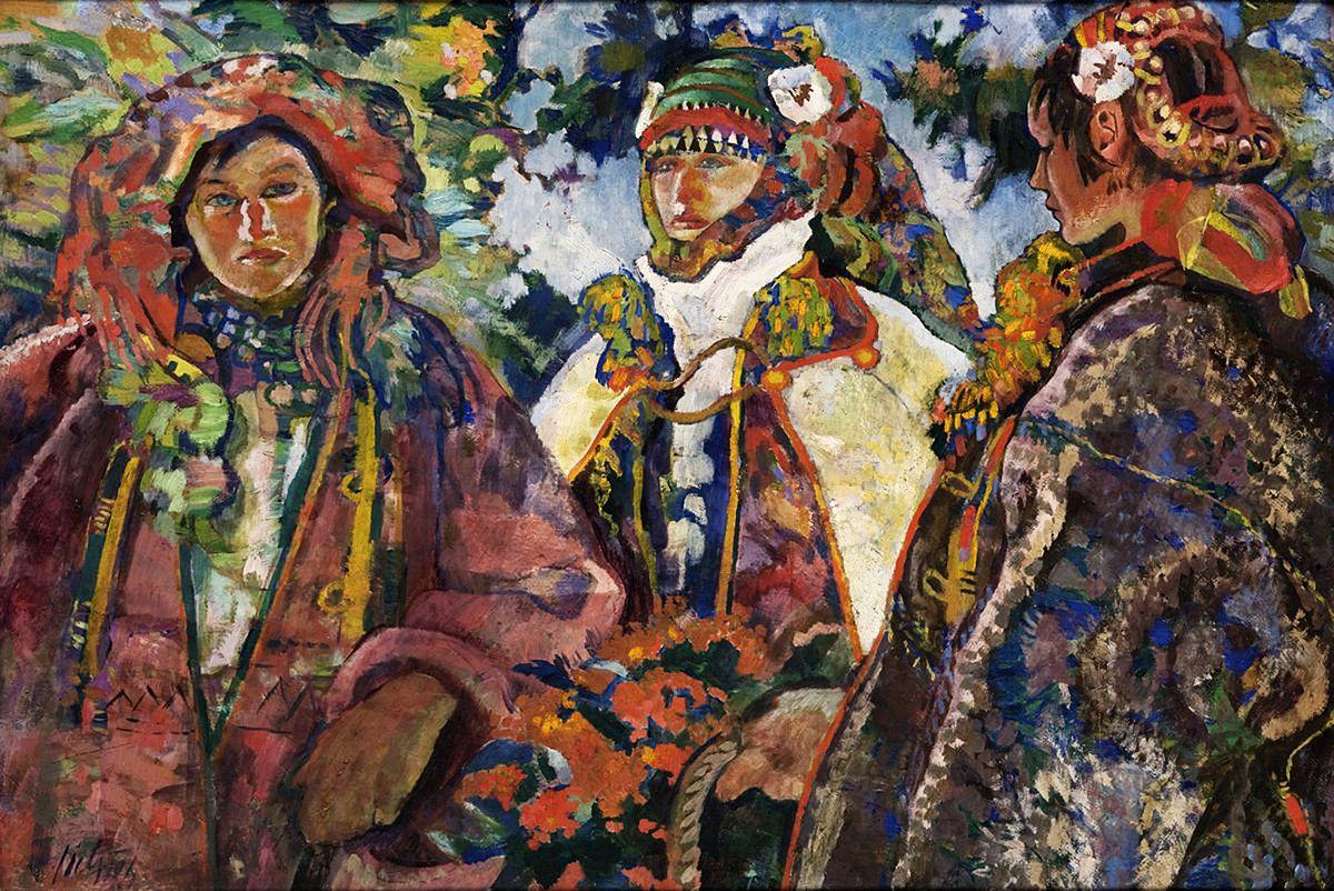 Казимир Сіхульський. Гуцульське весілля, 1924