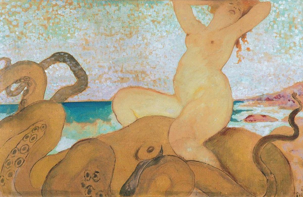 Казимир Сіхульський. Океаніда, 1913, гуаш