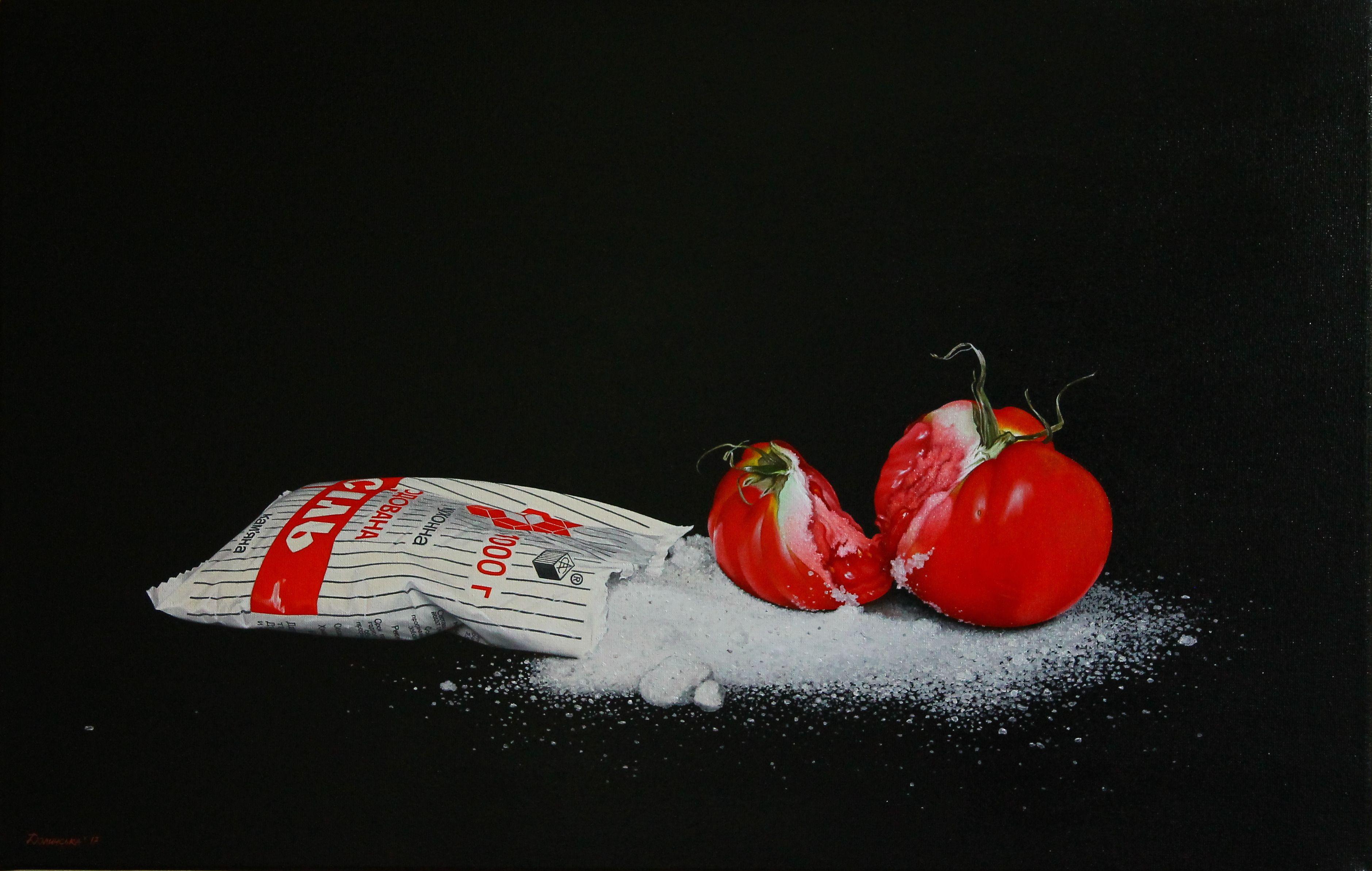 Юлія Долинська. Сіль і томат. Червоний, 2017; 35х55