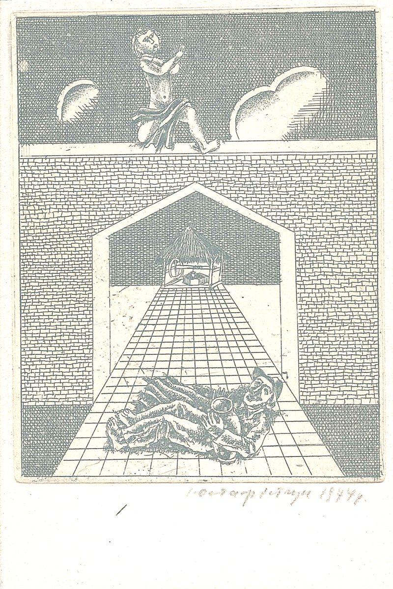 Іван Остафійчук. Без назви. Офорт, 1974