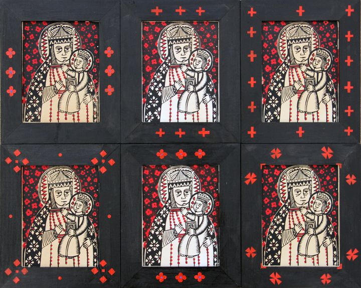 Олександр Бриндіков. Святий Миколай (папір, ілюмінований дереворит, дошка)