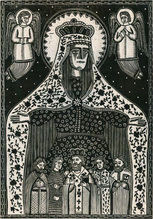 Олександр Бриндіков.Покрова (папір, дереворит)