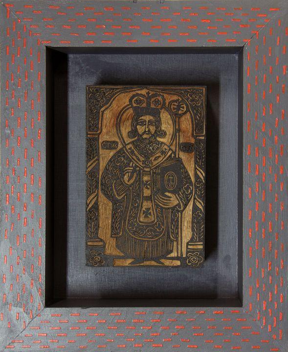 Олександр Бриндіков. Святий Миколай (деревяне кліше)