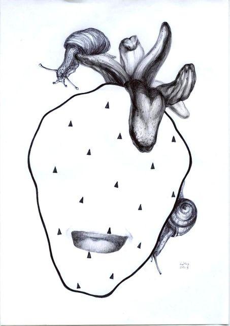 Наталка Шуст-Цимбалюк. Графіка, ручка на офісному папері