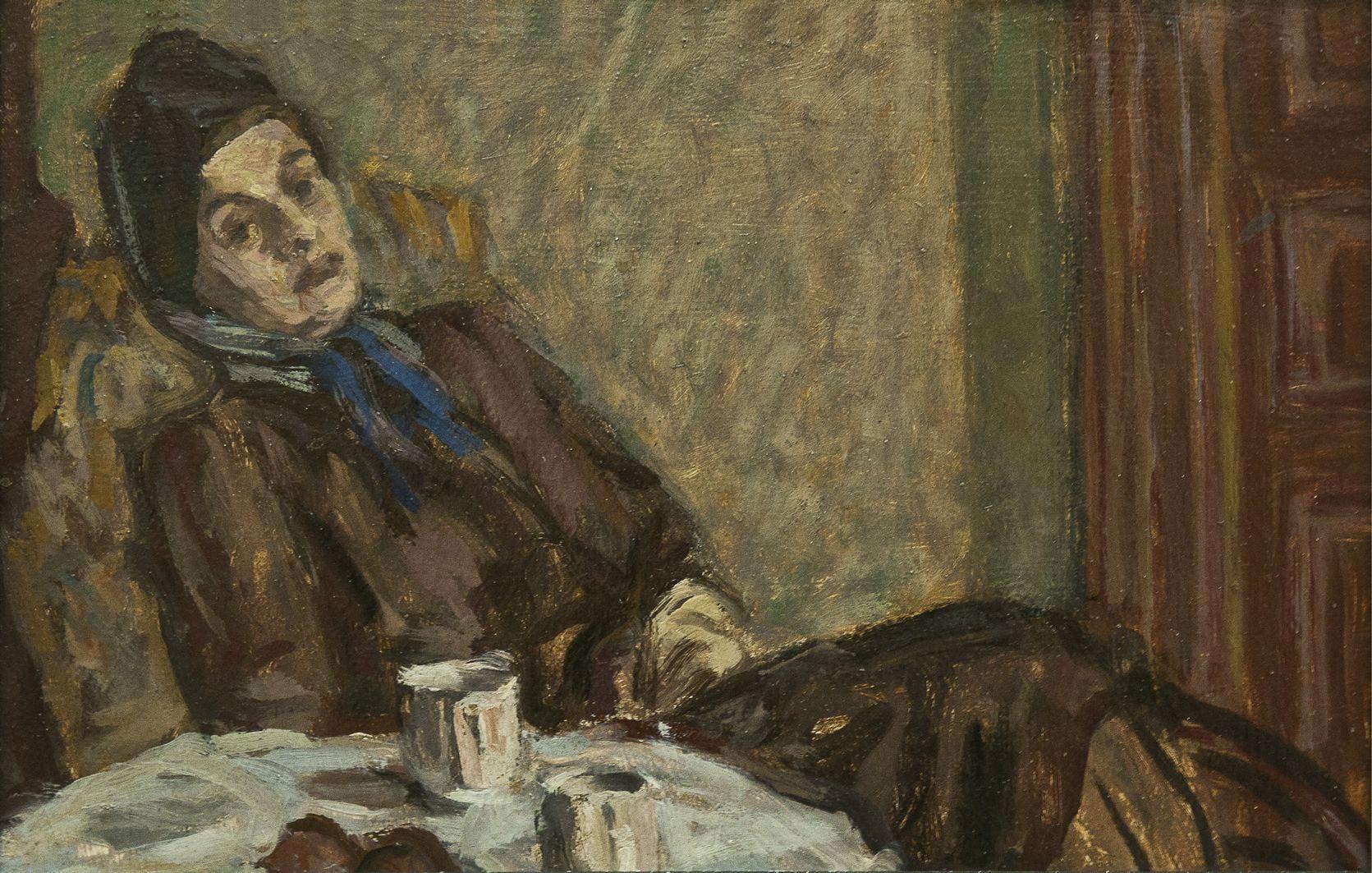 Роман Турин. Аріадна Труш, 1955; картон, олія; НМЛ