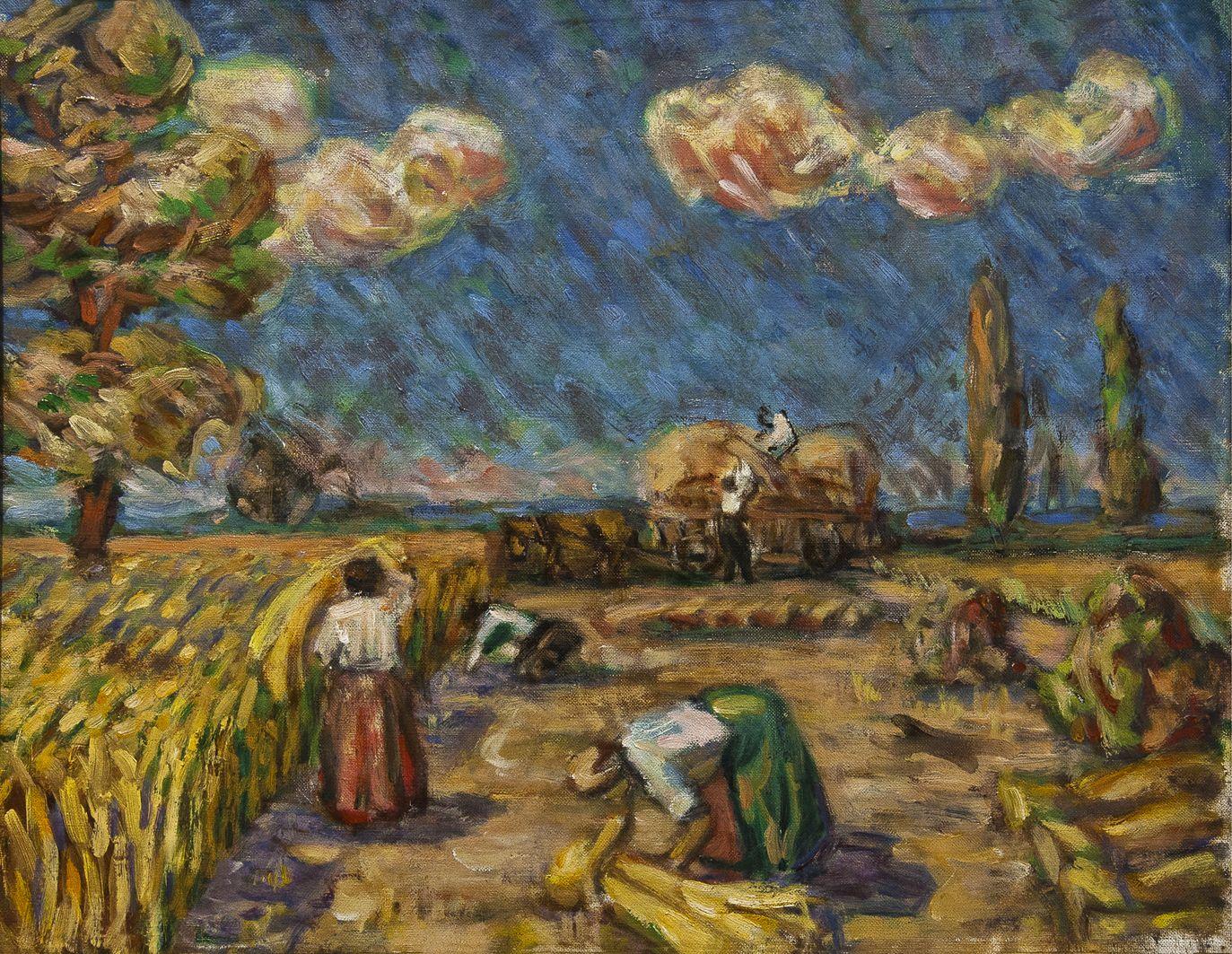 Роман Турин. Жнива, 1930-і; полотно, олія; НМЛ