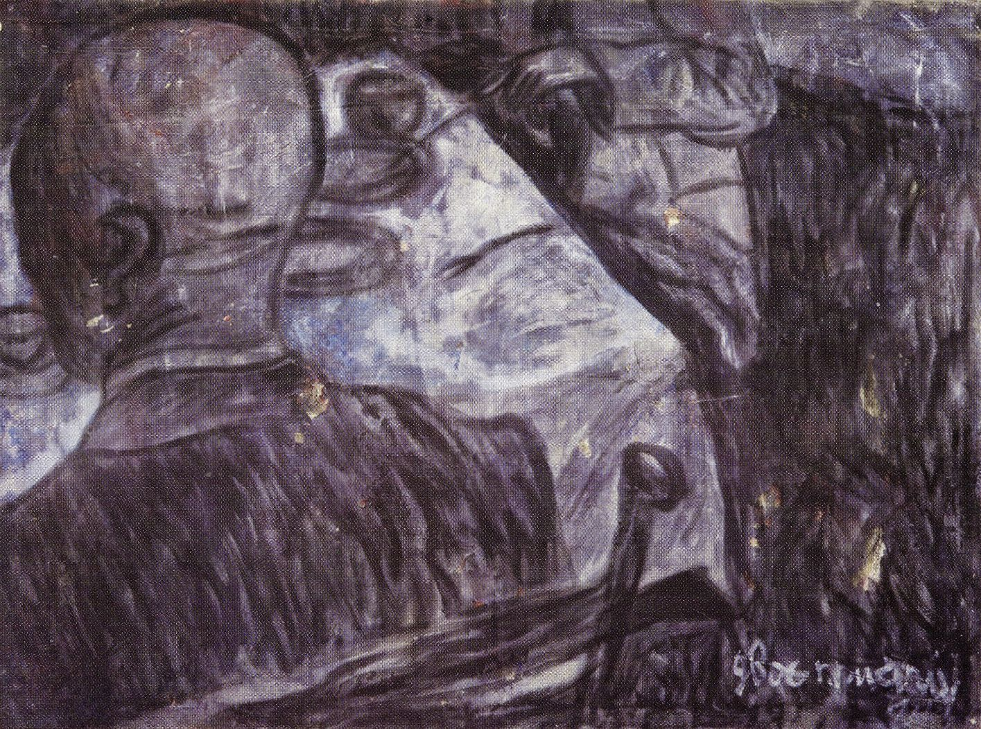 Андрій Сагайдаковський. Двоє при столі, 1993