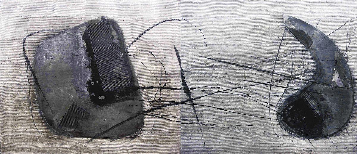 Ігор Янович. Монохромні структури #32, диптих, 2000