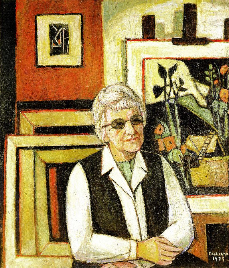 Марія Сельська. Автопортрет, 1979