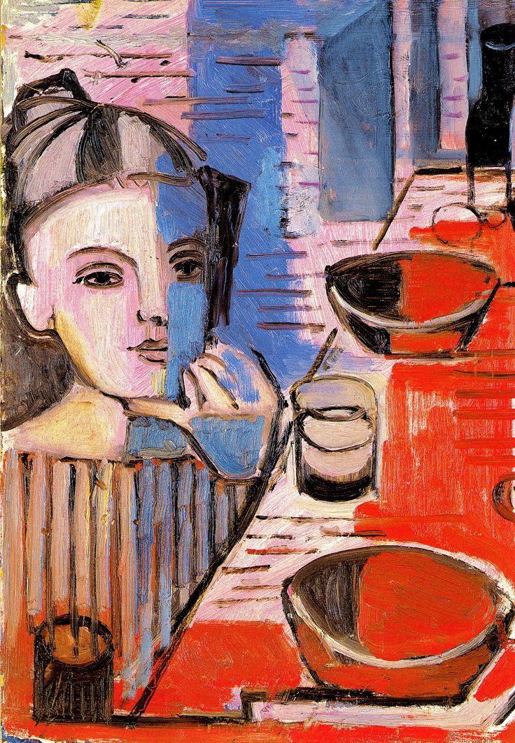 Марія Сельська. Дитина біля столу, 1960-і