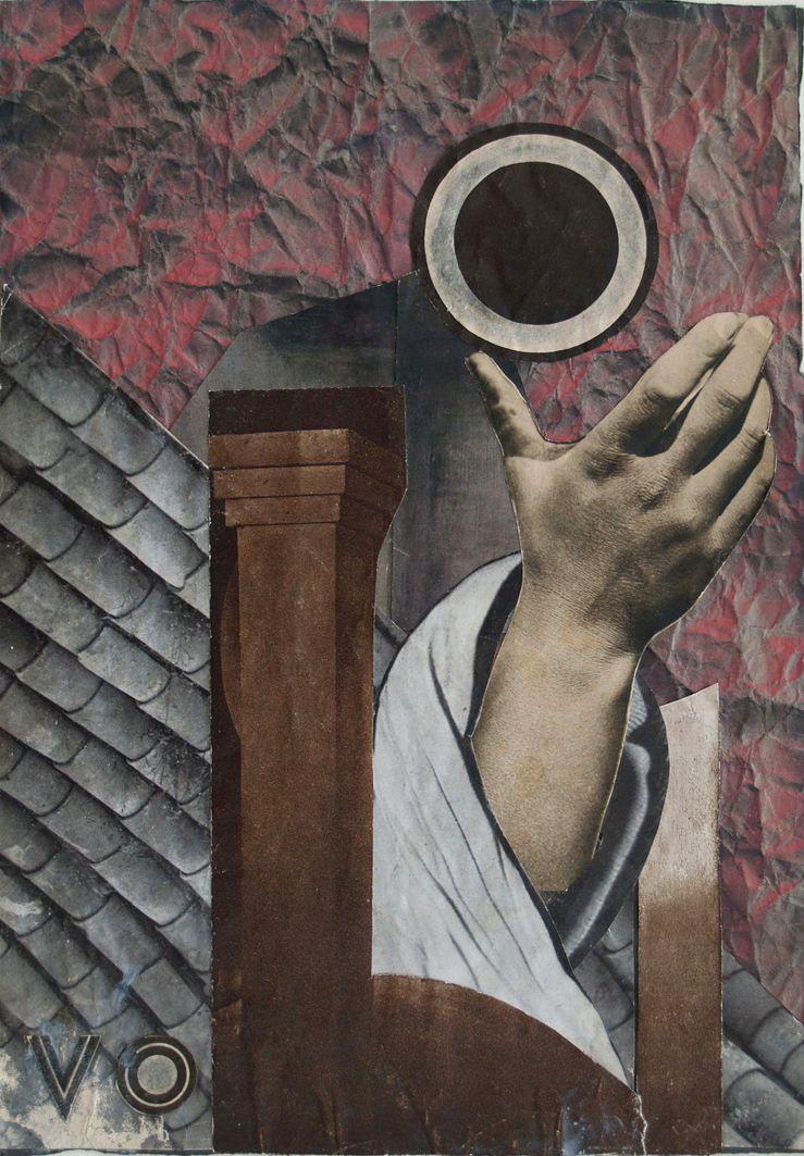 Марія Сельська. Композиція з рукою, 1934. Фотоколаж, Muzeum Narodowe Wrocław