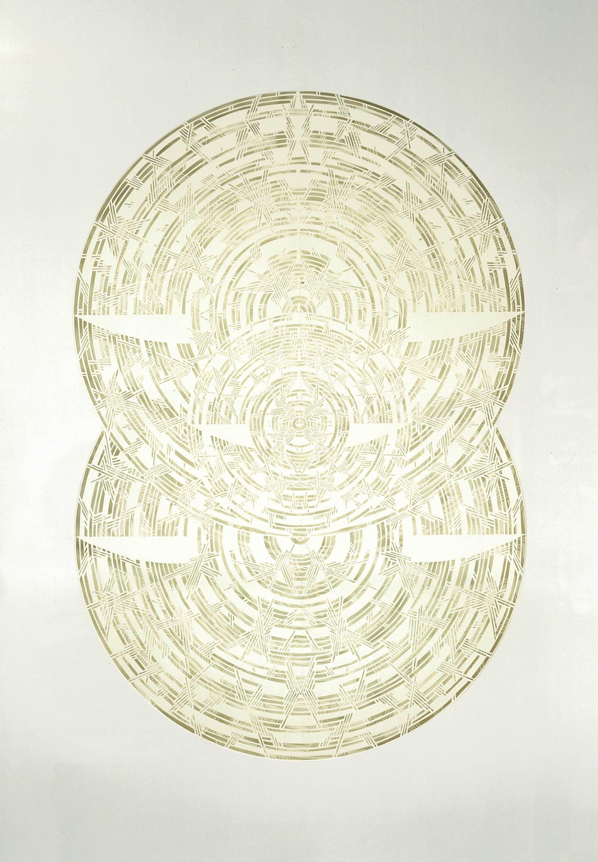 Олена Турянська. Безмежність ІІІ-III, 2006; папір, витинання, 100х70
