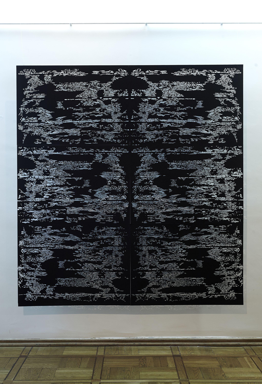 Олена Турянська. Пейзаж, 2012; папір, витинання 200х220