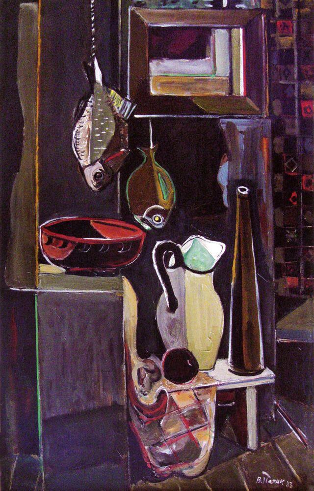 Володимир Патик. Натюрморт з рибою, 1983