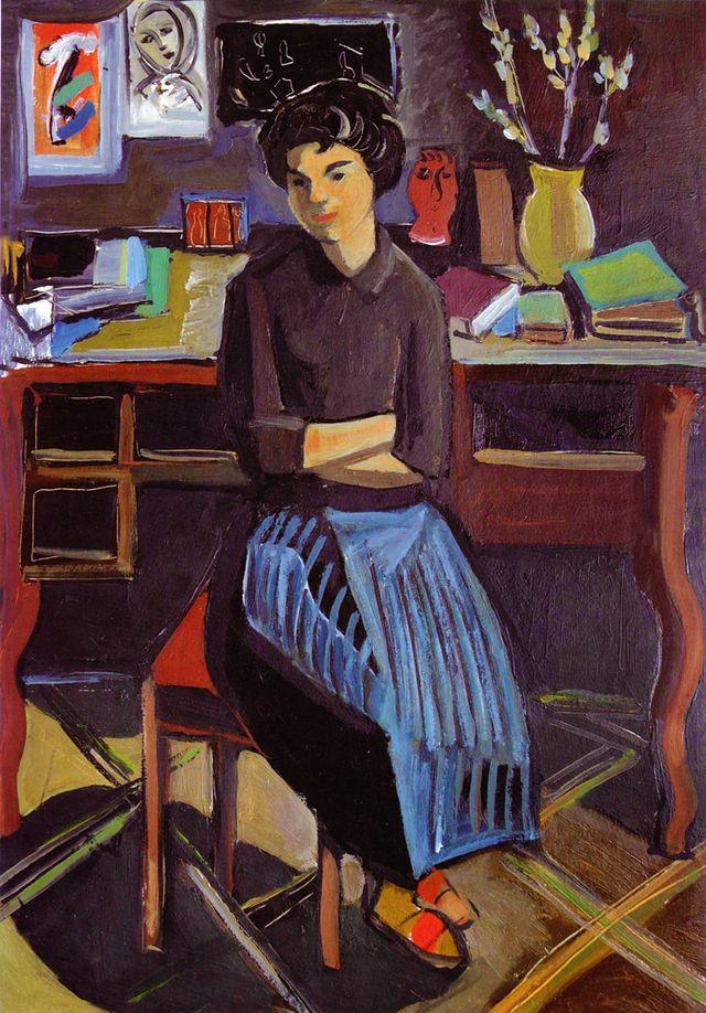 Володимир Патик. Портрет дружини, 1958