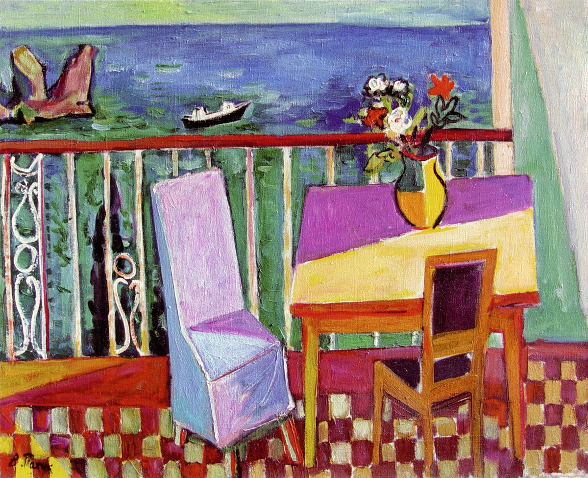 Володимир Патик. Вид з балкона, 1959