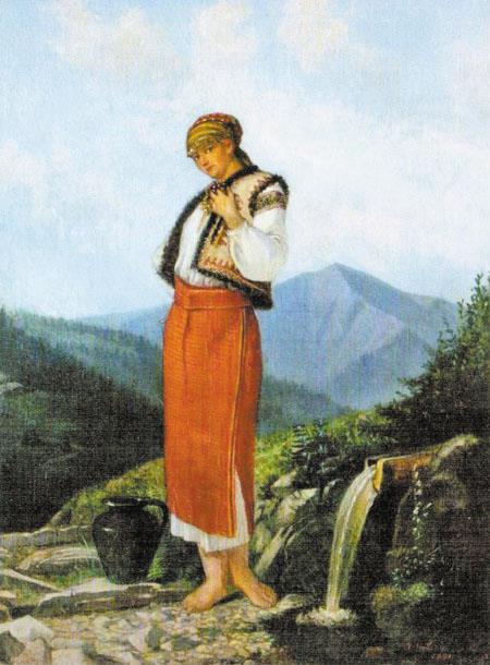 Корнило Устинович. Біля джерела, 1891