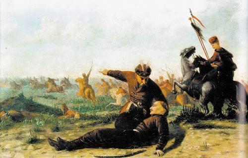 Корнило Устинович. Козацька битва, 1890