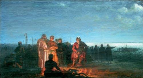 Корнило Устинович. Мазепа на переправі, 1883