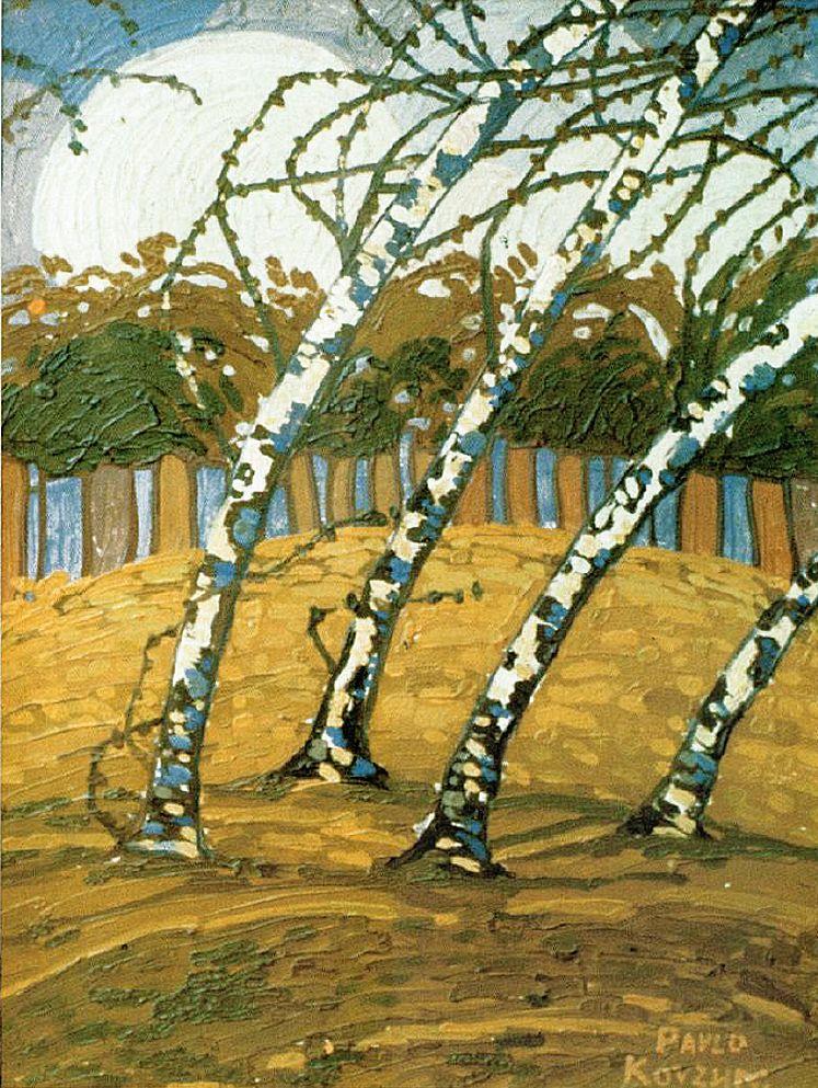 Павло Ковжун. Пейзаж з деревами, 1930-і; к,о