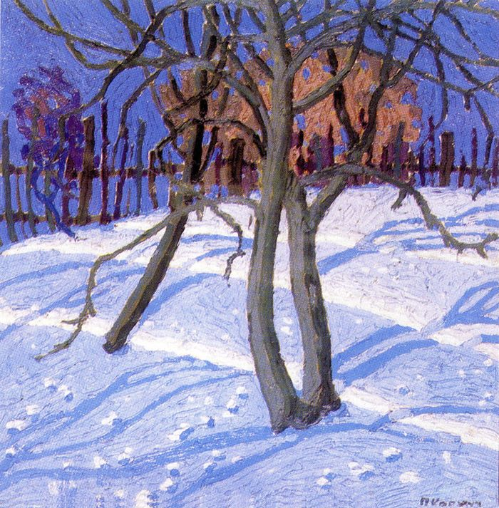 Павло Ковжун. Зимовий сад, 1926; к,о; ЛНГМ