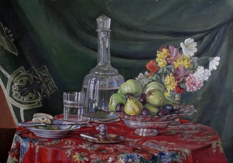 Василь Дядинюк. Натюрморт, 1925; олія, полотно
