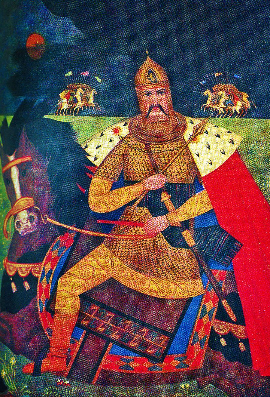 Василь Дядинюк. Роман Галицький, 1933; дошка, темпера