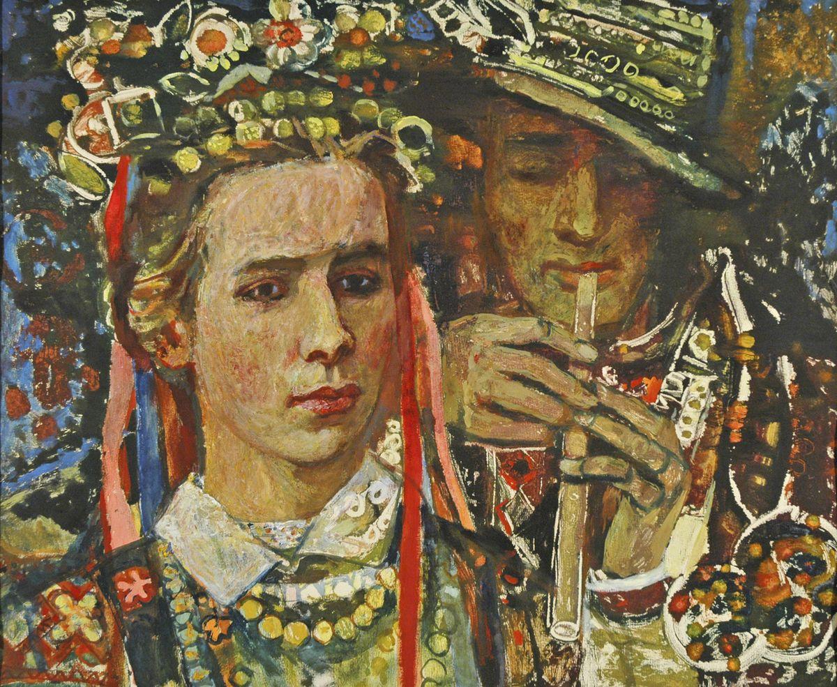 Данило Довбошинський. Леся Українка, 1978. Монотипія