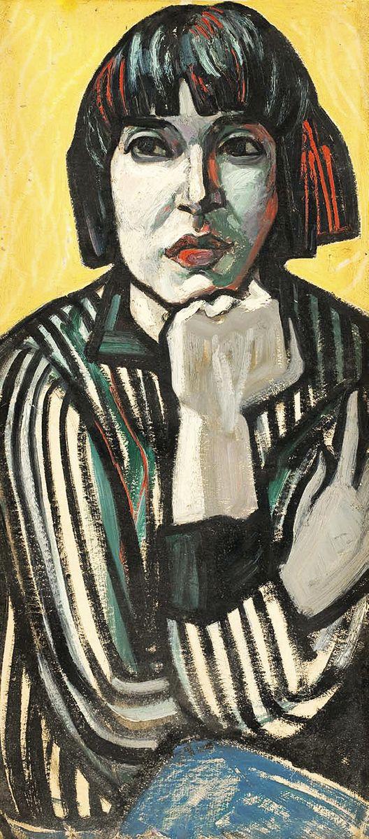 Генріетта Левицька. Девушка в полосатом, 70-ті
