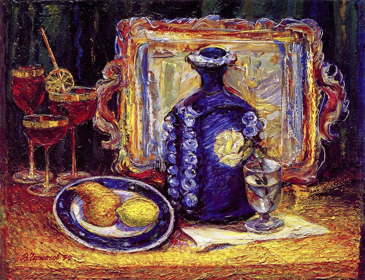 Володимир Черкасов. Святковий натюрморт, 2000