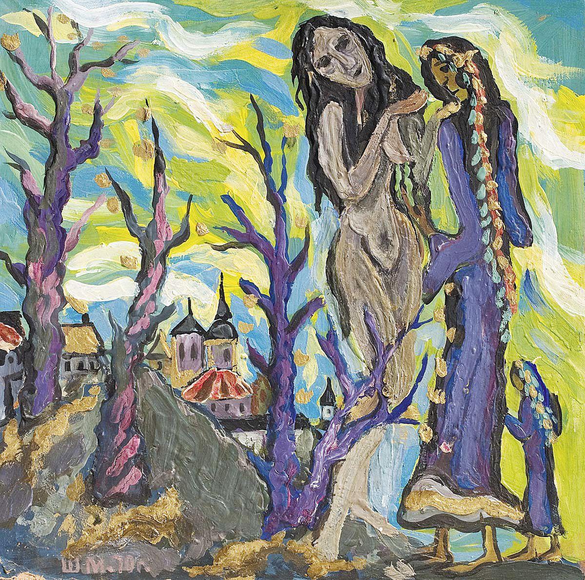 Міша Штейнберг. Алегорична композиція, 1970