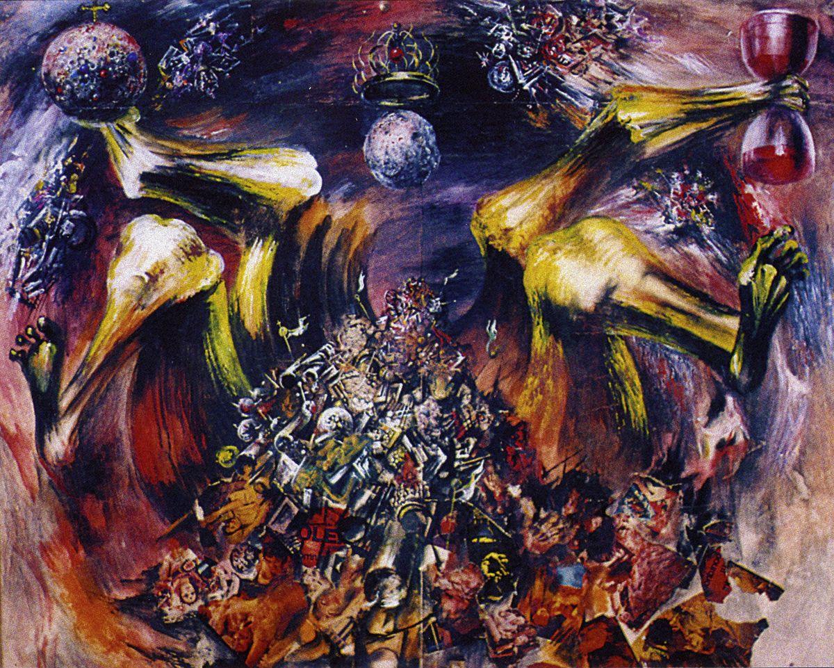 Євген Лисик. Ескіз декорації Цвіт папороті, 1978