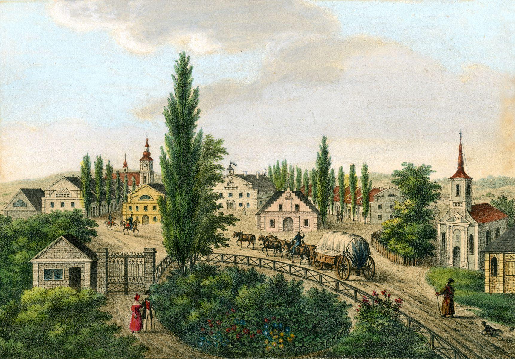 Карл Ауер. Бурштин 1838 літогр,акв